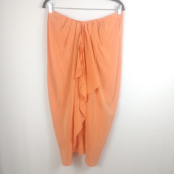 BCBGMaxAzria Dresses & Skirts - BCBGMaxAzria Strapless Dress 100% Silk